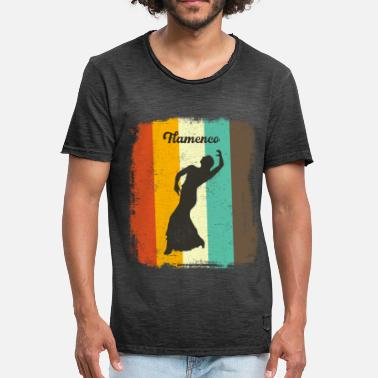 Flamenco Dancer Flamenco Dancer Retro 70s Vintage Flamenco Woman - Men's Vintage T-Shirt