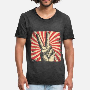 Peace Movement Peace Peace Movement - Men's Vintage T-Shirt
