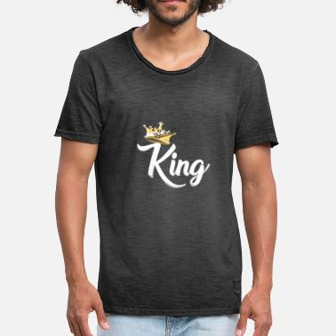 King Queen Prince King,Royal Prince,Kings and Queens Matching Couple - Men's Vintage T-Shirt