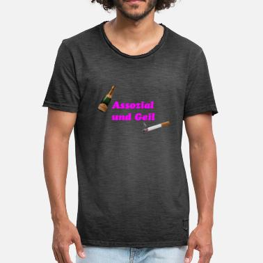 Horny Drink Associal and horny - Men's Vintage T-Shirt
