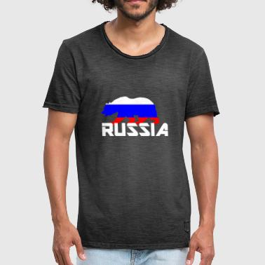 Arm Bears Russia bear coat of arms flag - Men's Vintage T-Shirt