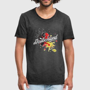 Antigua idea de regalo retro alemán Bandera de Splash - Camiseta vintage hombre