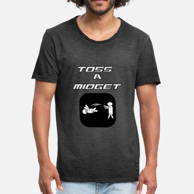 Midget Funny And Awesome Toss Tshirt Design TOSS A MIDGET - Men's Vintage T-Shirt