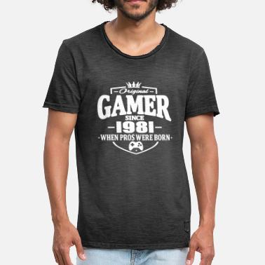 1981 Gamer sedan 1981 - Vintage-T-shirt herr