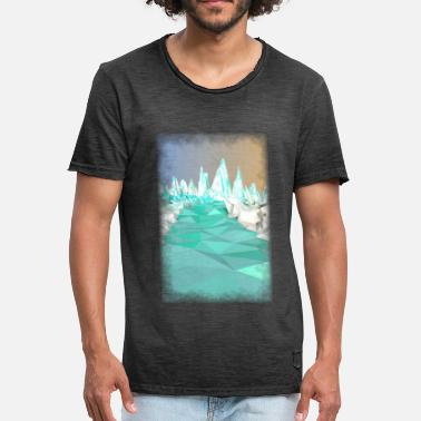 Glacier Low Poly Glacier - Men's Vintage T-Shirt