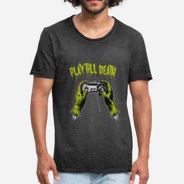 Gaming Play until you die - Männer Vintage T-Shirt