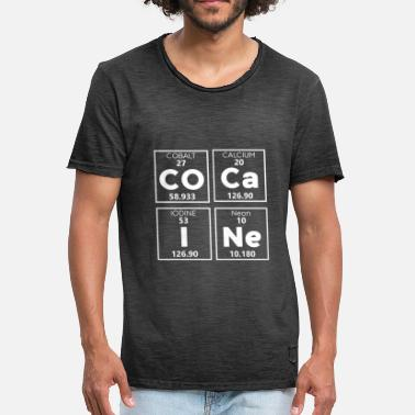 Drugs Chemistry periodic elements of cocaine drug chemistry - Men's Vintage T-Shirt