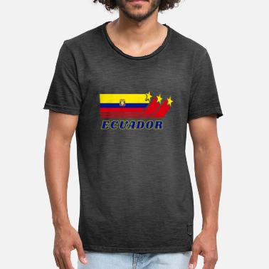 Santo Domingo Ecuador Flags Design / Gift South America Loja - Men's Vintage T-Shirt