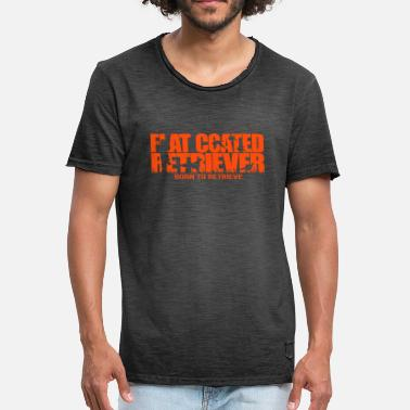 Flatcoated Retriever Flatcoated retriever geboren op te halen - Mannen Vintage T-shirt