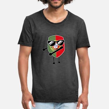 Hardstyle Portugal Portugal like a boss portuguese fan shirt - Men's Vintage T-Shirt