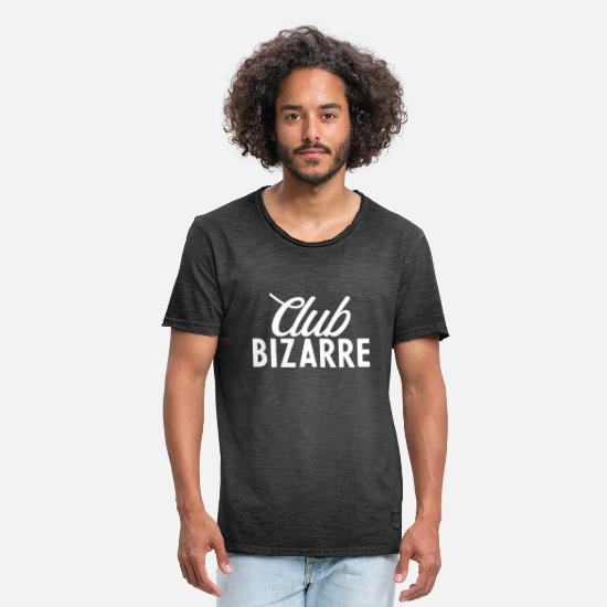 Bizarre T-Shirts - Club Bizarre Typography - Men's Vintage T-Shirt washed black