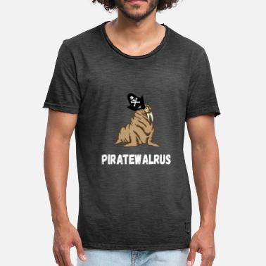 Walrus Pirate Walrus Mariners Piracy Gifts - Men's Vintage T-Shirt