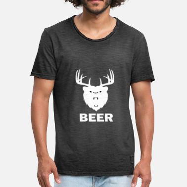 Beer Bear Beer bear bear deer - Men's Vintage T-Shirt
