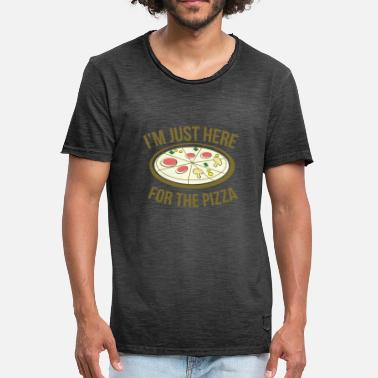 Pizza PIZZA - Vintage-T-skjorte for menn