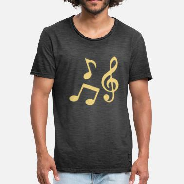 Musical Notes Notas musicales - Camiseta vintage hombre