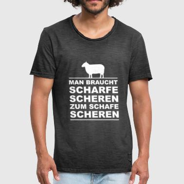 Sheep - sharp shears - Men's Vintage T-Shirt