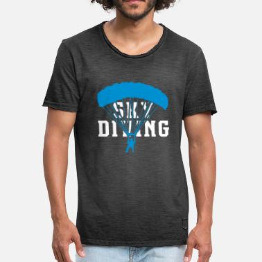 Skydiving Freefly Skydiving - Men's Vintage T-Shirt