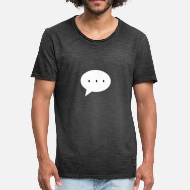 Waiting Speech bubble waiting denken - Mannen Vintage T-shirt