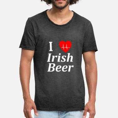 I Love Ireland Irish I Love Irish Beer Ireland Design - Men's Vintage T-Shirt