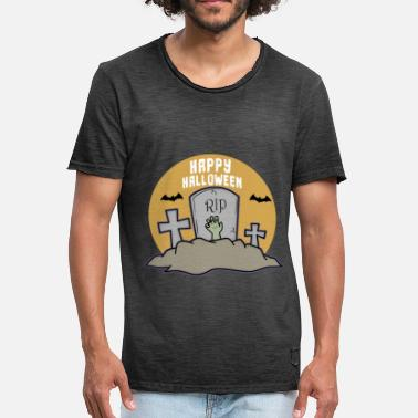 Rip Happy Halloween RIP - Männer Vintage T-Shirt