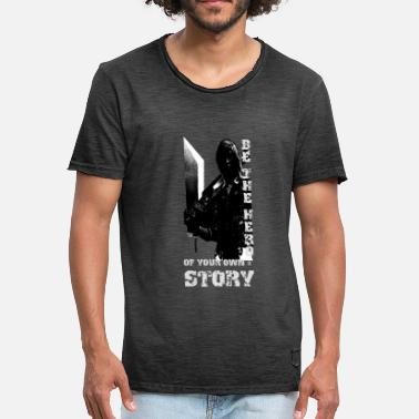 Fighting Games Hero Game Video Game Fight Story Sword - Men's Vintage T-Shirt