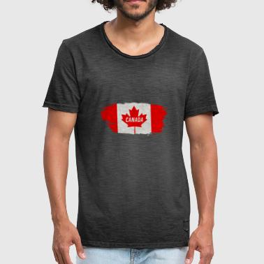 Canadian Rockies Canada Flag / Gift North America maple leaf - Men's Vintage T-Shirt