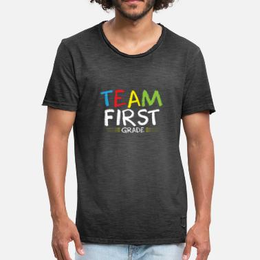 Start Of School Team first class! School start, school, start of school - Men's Vintage T-Shirt