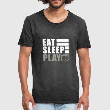 Eat, sleep, backgammon gift - Men's Vintage T-Shirt