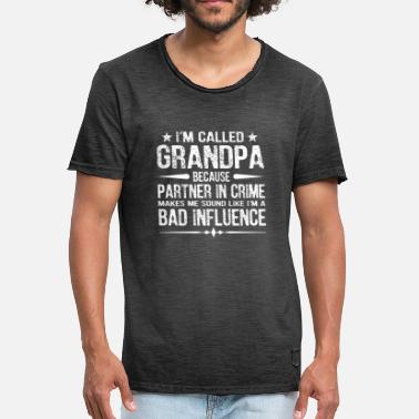 Bad Influence Granpa Partners In Crime Bad Influence - Men's Vintage T-Shirt