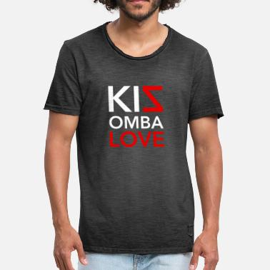 I Love Dance Kizomba LOVE - Dance Shirt - Vintage-T-shirt herr