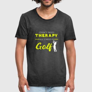 Golf Therapy Racket Golfer Handicap Caddy Lawn - Vintage-T-skjorte for menn