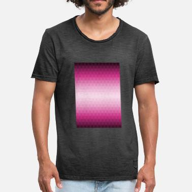 Pink Triangle Triangles pink pink purple pattern - Men's Vintage T-Shirt