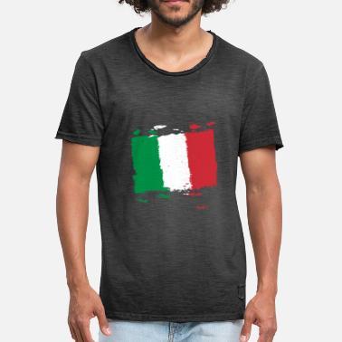 Lippu Italia Italia bandiera - Italia lippu - Italia lippu - Miesten  vintage t-paita 89089426ee