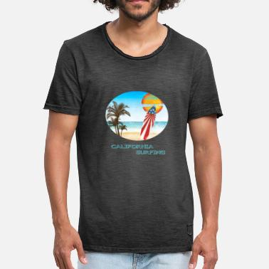 California Surfing California Surfing - Surfing - California - Summer - Men's Vintage T-Shirt