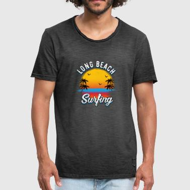 Long Beach Surfing - Vintage-T-shirt herr