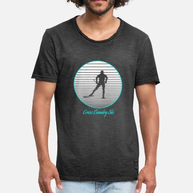 Cross Country Skiing cross-country skiing - Men's Vintage T-Shirt
