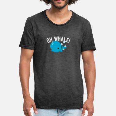 Humour Animaux Illustration drôle d'humour animal de baleine - T-shirt vintage Homme
