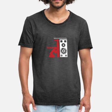 Pictogram Blow Job Rock classic: blowing in the wind Bass Boost Box - Men's Vintage T-Shirt