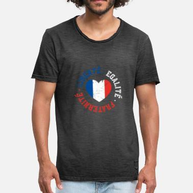 Fraternite Liberty Equality fraternity French - Men's Vintage T-Shirt