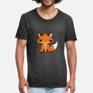 Fuchs Cartoon Fuchs Füchse Cartoon Comic süß - Männer Vintage T-Shirt