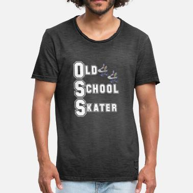 Roller Quad Conception de patinage à roulettes - Patineur Old School - T-shirt vintage Homme