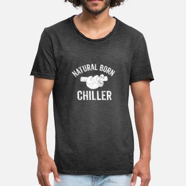 Natural Born Chiller Natural Born Chiller luiaard Relax Faul zeggen - Mannen Vintage T-shirt