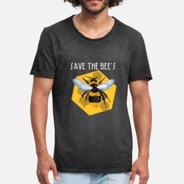 Pollinate Save the bees bee colony beekeeper pollinator honey - Men's Vintage T-Shirt