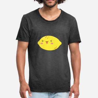 Lemon On A Pear sweet lemon - Sweet lemon with a smile - Men's Vintage T-Shirt