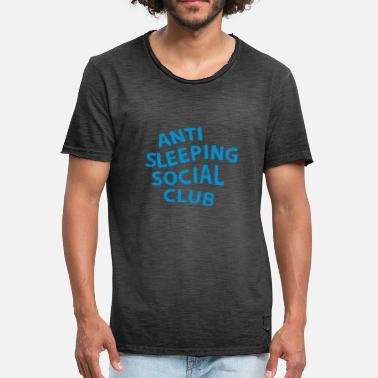 Anti Social Social Club Anti Sleeping Social Club - Mannen Vintage T-shirt