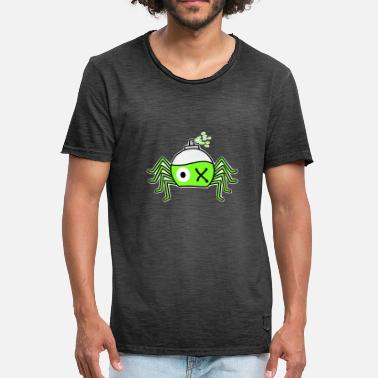 Spinne Cartoon Spinne - Männer Vintage T-Shirt