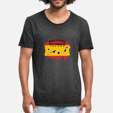 Canary Islands Welcome to Canary Island - Men's Vintage T-Shirt
