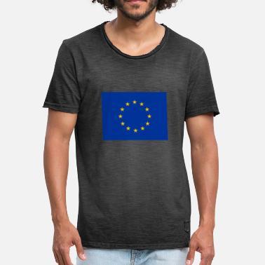 8320b2c964 Bandera Europea Bandera de la Unión Europea (UE) - Camiseta vintage hombre