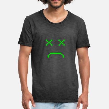 Beat Em Up Videogame Face / Gaming Gamer Game Pixel Face - Men's Vintage T-Shirt