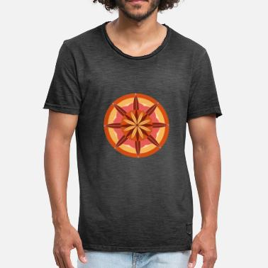 Bright Colors Vector flower with bright colors - Men's Vintage T-Shirt